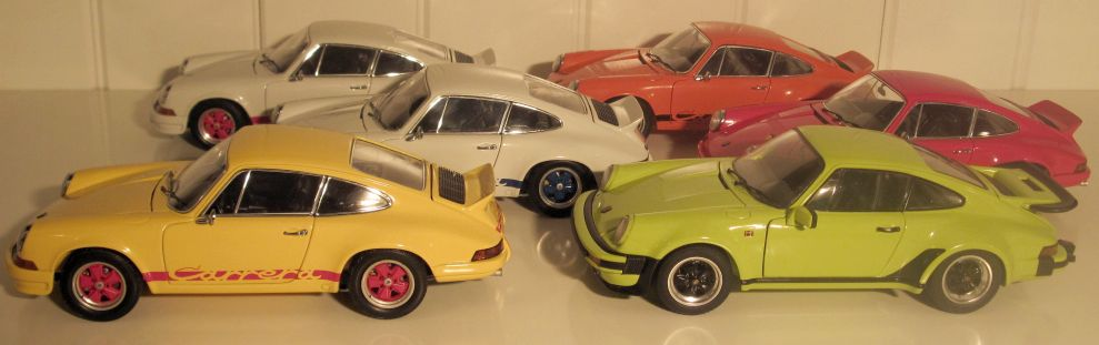 Ebbro Porsche 911 All variations 1:24