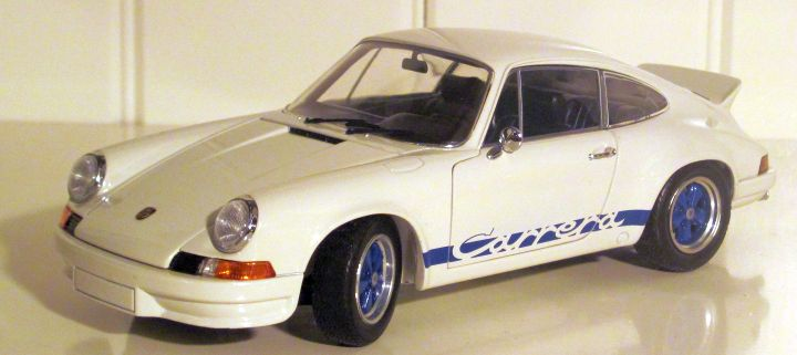 Ebbro 1973 911 RS 2.7 Blue on White 1:24