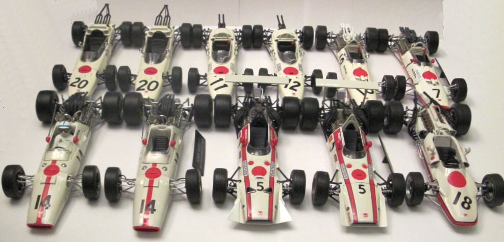 All Ra race cars in 1:20